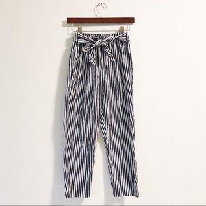 Vertical Striped Tie Pants Zara